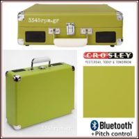 Crosley Cruiser Deluxe Portable Turntable - Bluetooth -Green