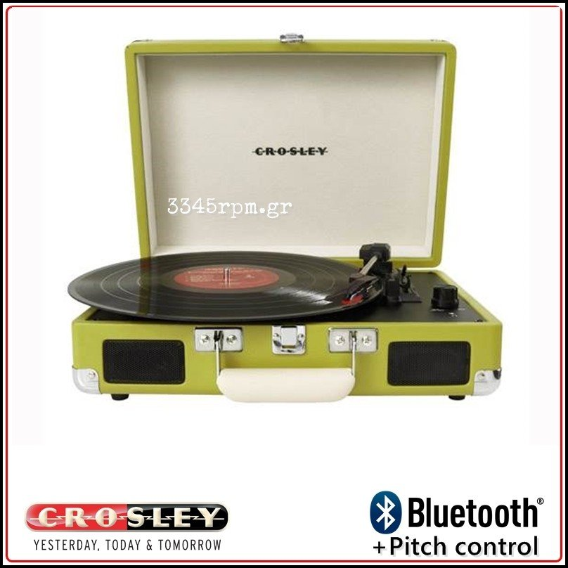 Crosley Cruiser Deluxe Portable Turntable - Bluetooth - Green