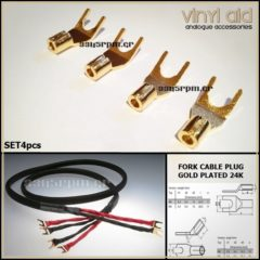 Fork Cable Plug 24K HQ - SET 4