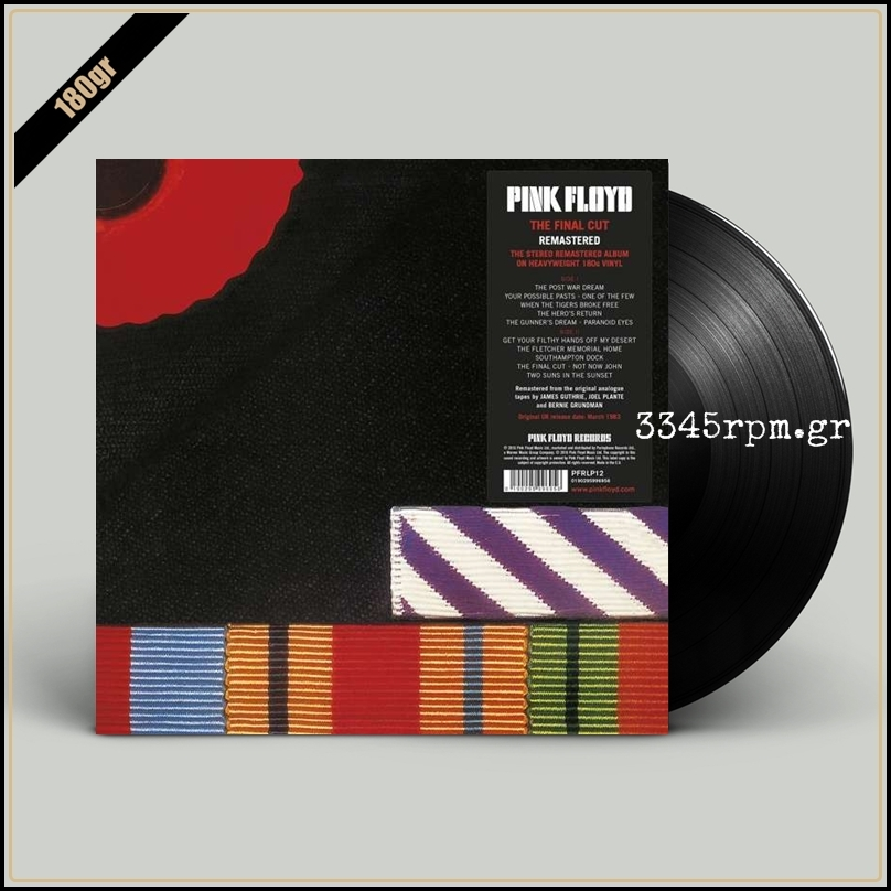 Pink Floyd - The Final Cut - Vinyl LP 180gr