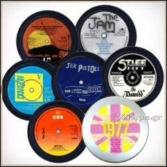 Punk 1977 Music Coasters Box set 6