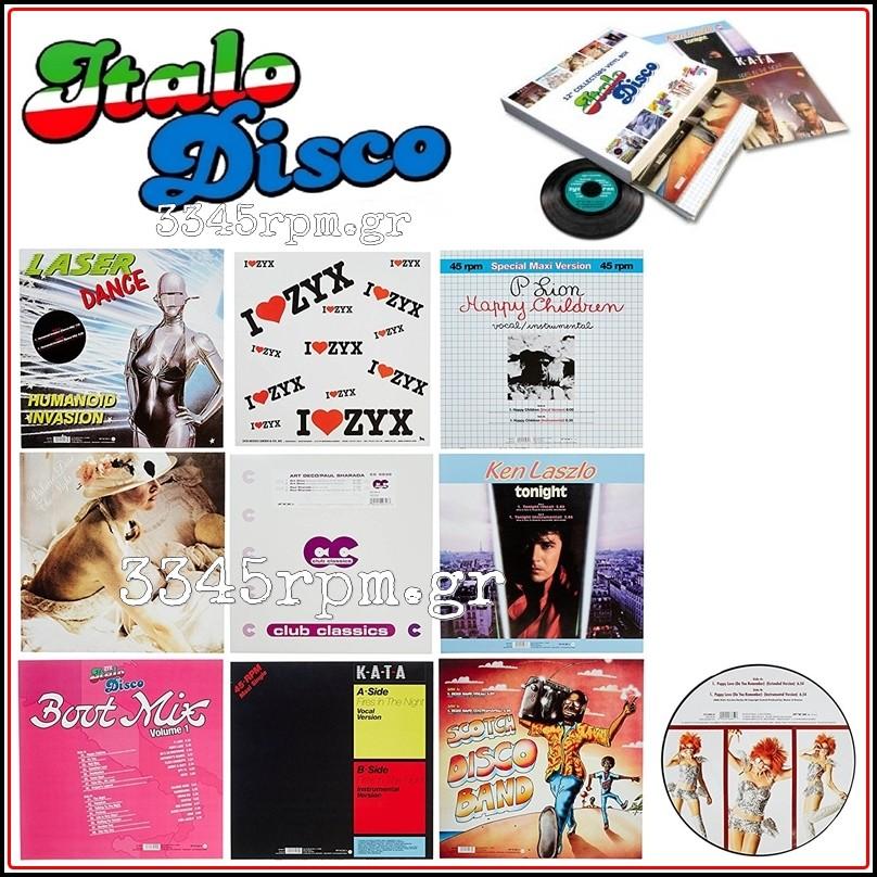 Italo Disco 12inch Collectors Vinyl Box Vinyl 10 Maxi