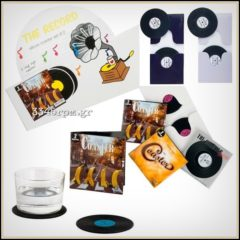 Vinyl Record Coaster Set 2