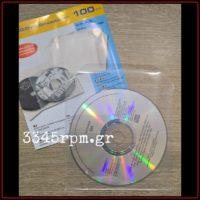 CD - DVD Protection sleeves with envelope flap - Set 100