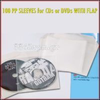 CD - DVD Protection sleeves with envelope flap _Set 100