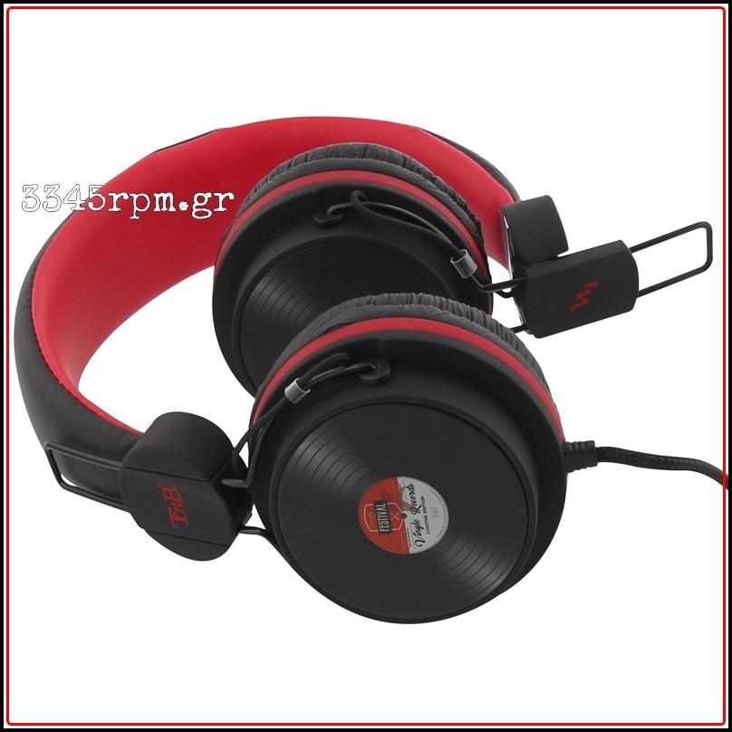 Vinyl Record Style Stereo Headphones-