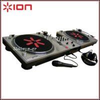 ION Audio DJ Kit - 2 Turntables & DJ Mixer Set-