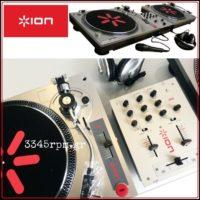 ION Audio DJ Kit 2 Turntables & DJ Mixer Set