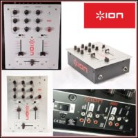 ION Audio DJ Kit- 2 Turntables & DJ Mixer Set