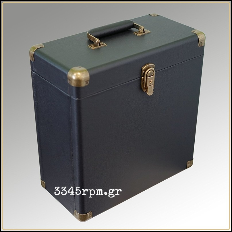 Retro Vintage Deluxe Record Case for LP-12inch Vinyl - Black