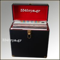 Retro Vintage Deluxe Record Case for LP-12inch Vinyl -Black
