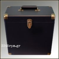 Retro Vintage Deluxe Record Case for LP-12inch Vinyl- Black