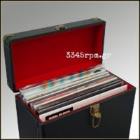 Retro Vintage Deluxe Record Case for LP_12inch Vinyl - Black