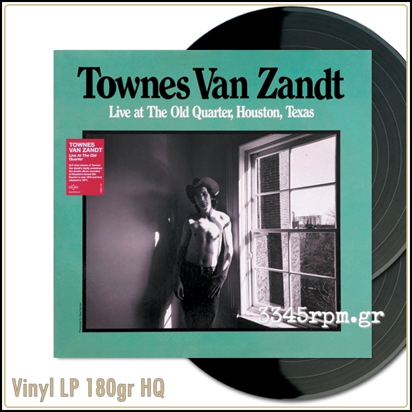 Van Zandt,Townes - Live At The Old Quarter - Vinyl 2LP 180gr HQ
