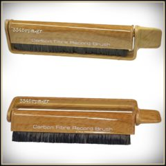 Anti-static carbon fiber brush - Wood - Vinyl Aid