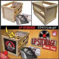 Wooden Storage box for 100 Vinyl records Lp's