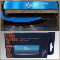 Deluxe Antistatic Carbon Fiber Brush for Vinyl Records -Blue