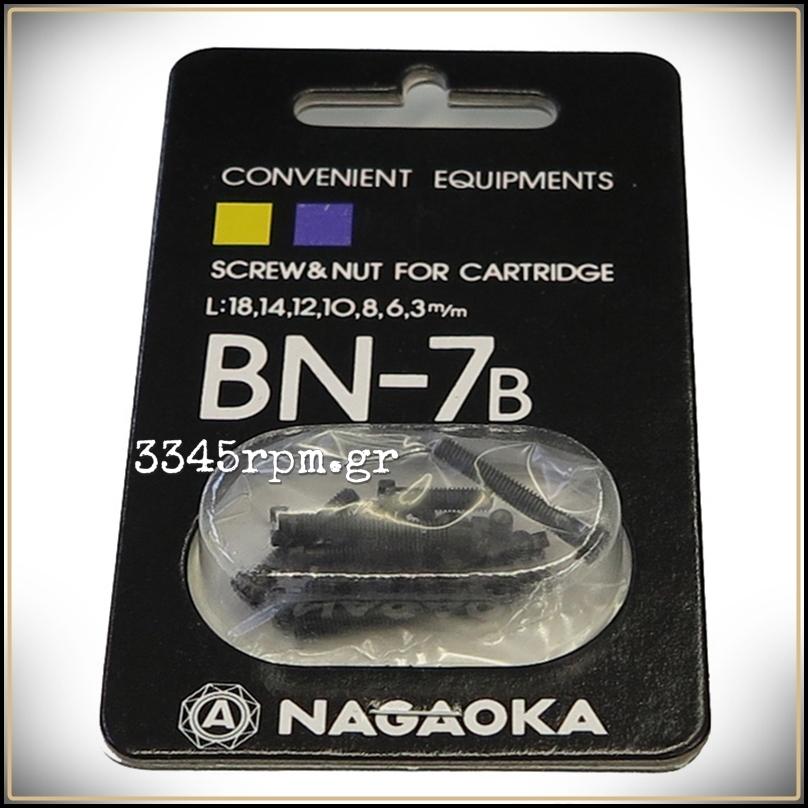 Nagaoka BN-7B -Screw & Nut for Cartridge (Set 26pcs)
