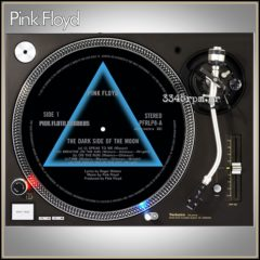 Pink Floyd Dark Side of the Moon - Turntable Slipmat-Set 2pcs