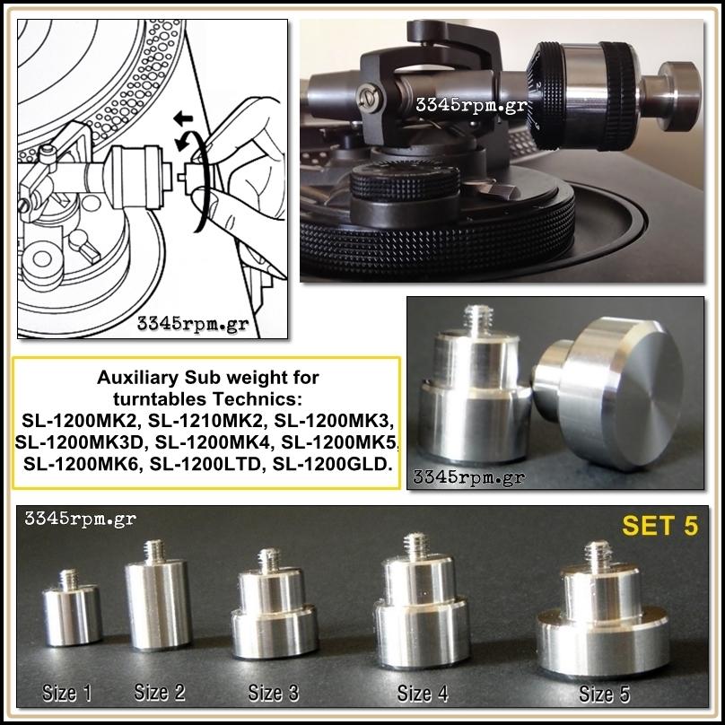 Αuxiliary sub weight for Technics ΜΚ2 - Set 5