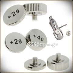 Screw On Headshell Weight - Set 2gr & 4gr