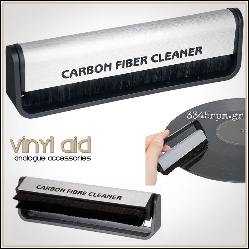 Anti-Static Carbon Fiber Vinyl Record Cleaning Brush