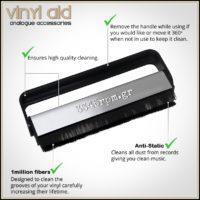 AntiStatic Carbon Fiber Vinyl Record Cleaning Brush