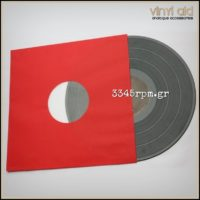 Antistatic Inner Sleeves for LPs - 12inch -Red