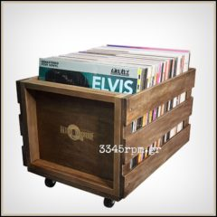 Wooden Storage Box for 100 Vinyl Records LPs