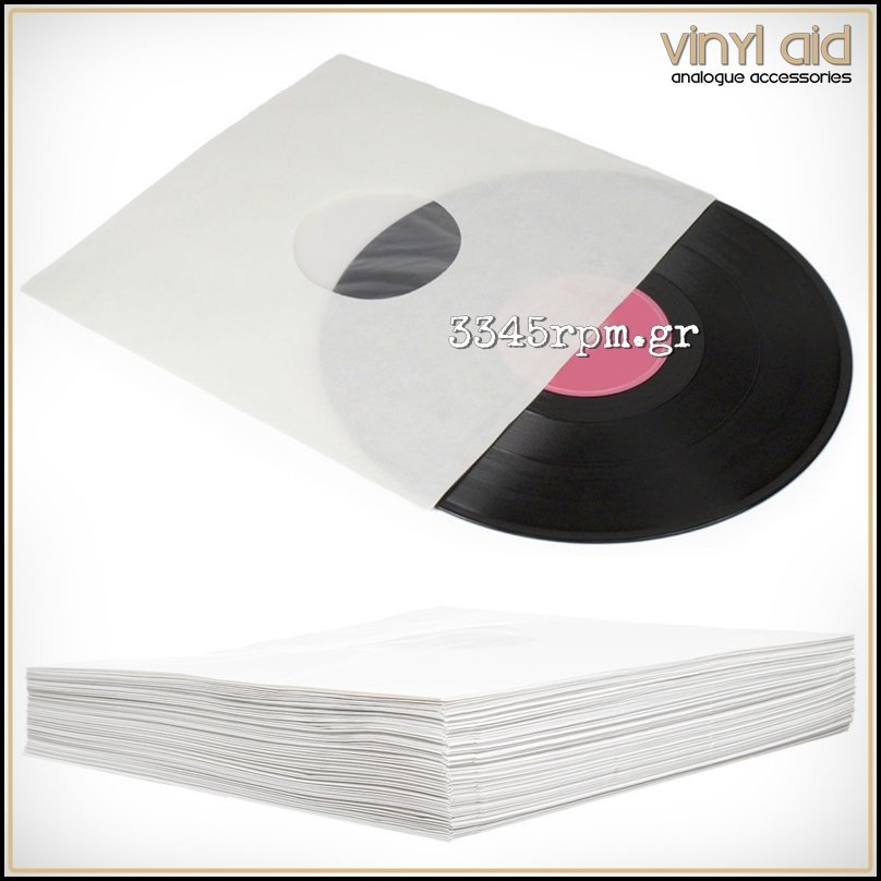 Antistatic Vinyl Record Inner Sleeves LP - White