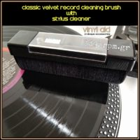 Classic Velvet Record Cleaning Brush with Stylus Cleaner_