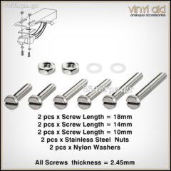 Screws and Nuts for Cartridge Mounting Set 10