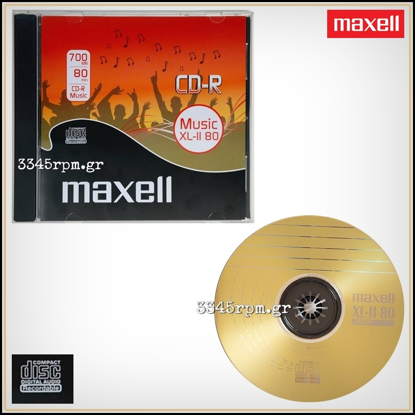Music CD-R Maxell XL-II 80 Digital Audio Recordable
