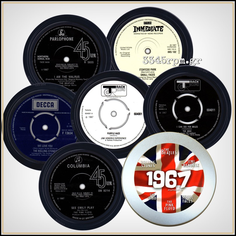 Rock 1967 Music Coasters Box set 6