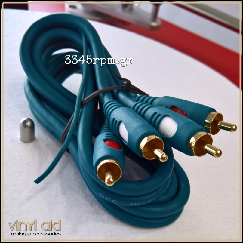 Turntable Phono Cable RCA to RCA 2m - Vinyl Aid