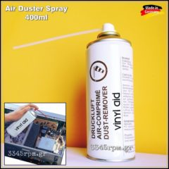 Air Duster Spray Vinyl aid