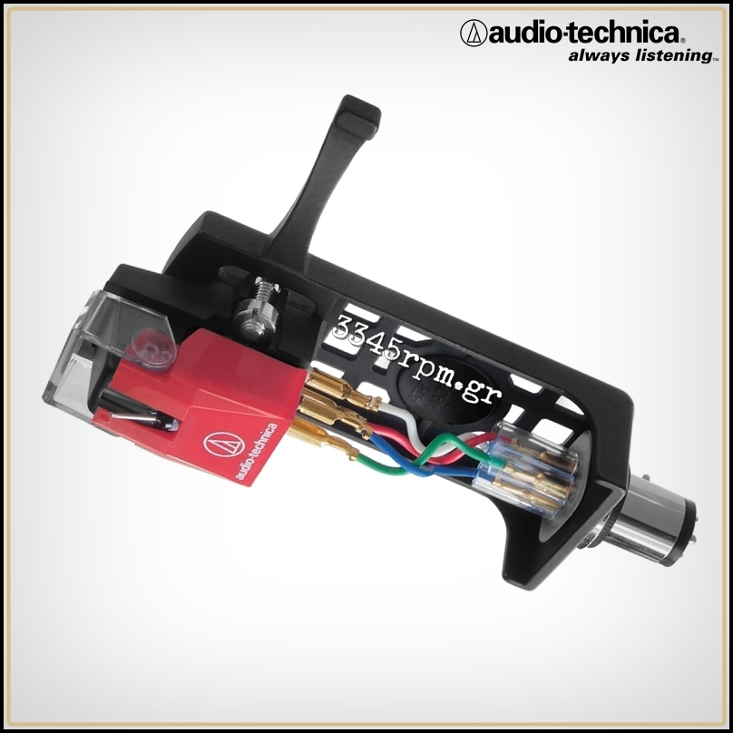 Audio Technica AT100E-HSB Cartridge with Headshell Combo Kit