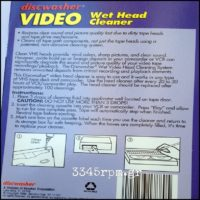 Discwasher VHS Wet Head Cleaner-Video Cleaning Tape