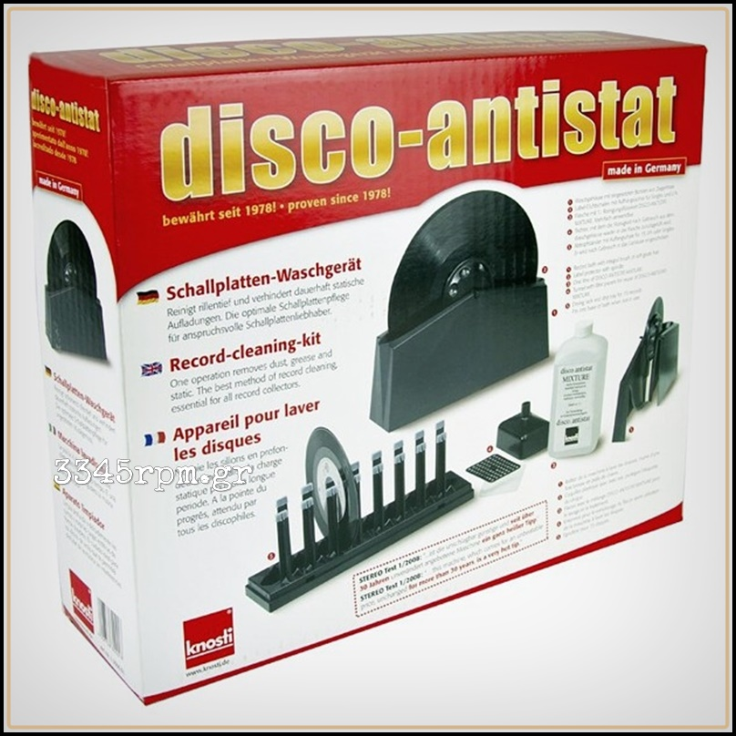 Knosti Disco Antistat Vinyl Record Cleaning Machine Kit