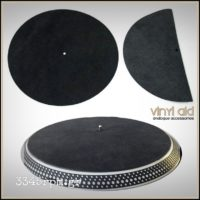 Leather Record Mat Turntable Mat Vinyl Aid -Black