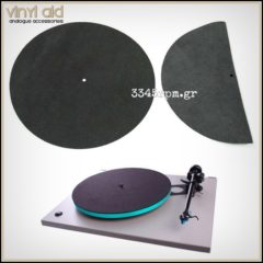 Leather Record Mat Turntable Mat Vinyl Aid - Black