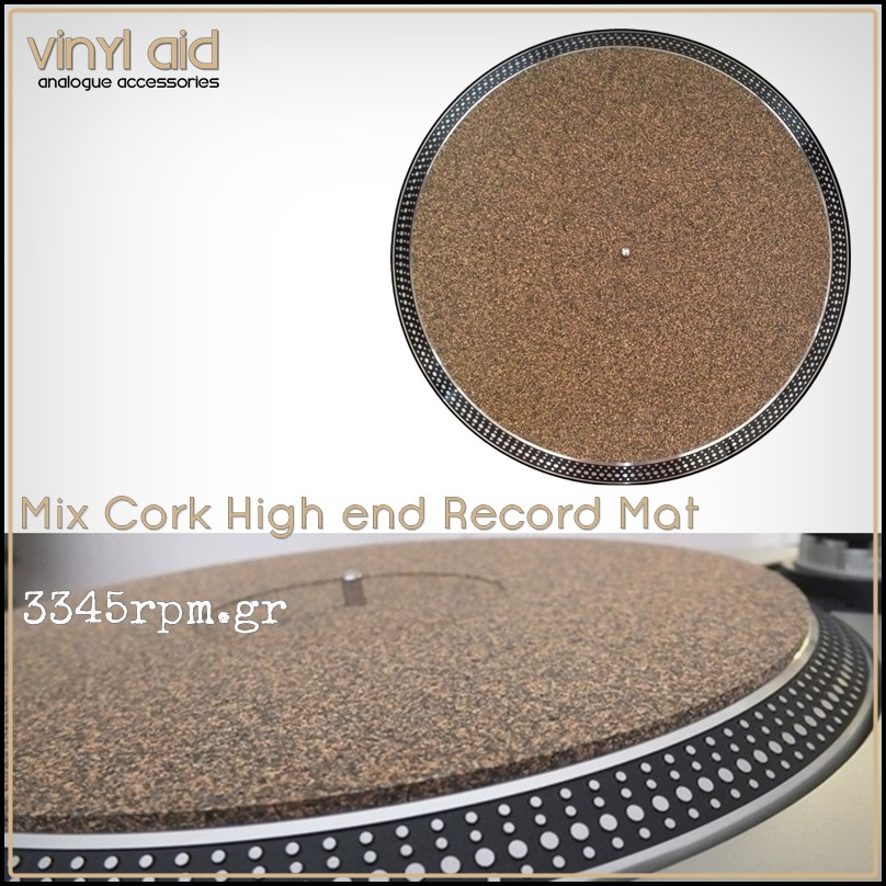 Mix Cork High end Record Mat 3mm - Vinyl Aid