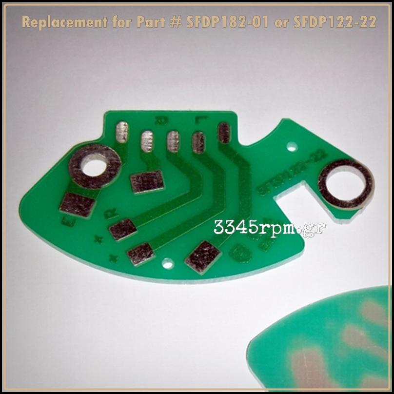 Technics SL-1200 1210MK2 PCB Phono Circuit Board RCA - SFDP122-22