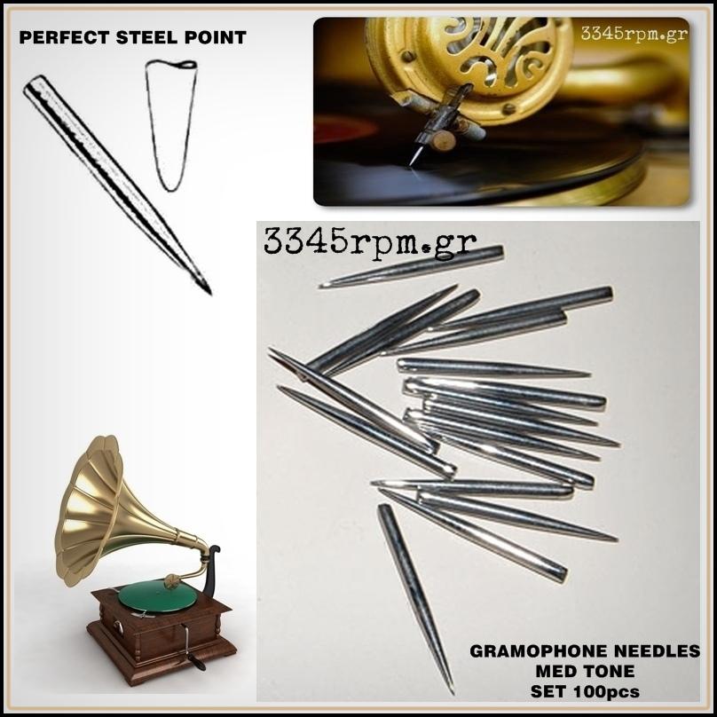 Gramophone Needles 78rpm Set 100