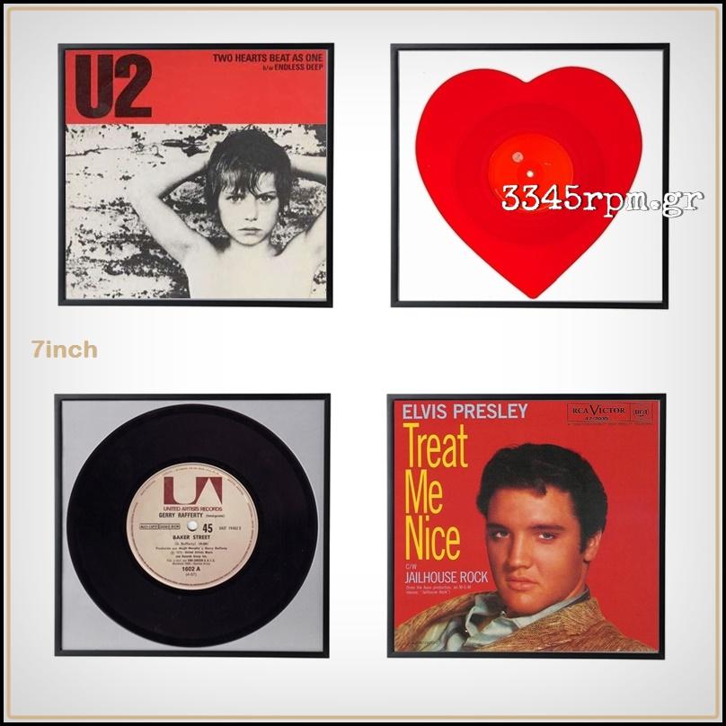 Vinyl Record Frame Display 45s-7inch