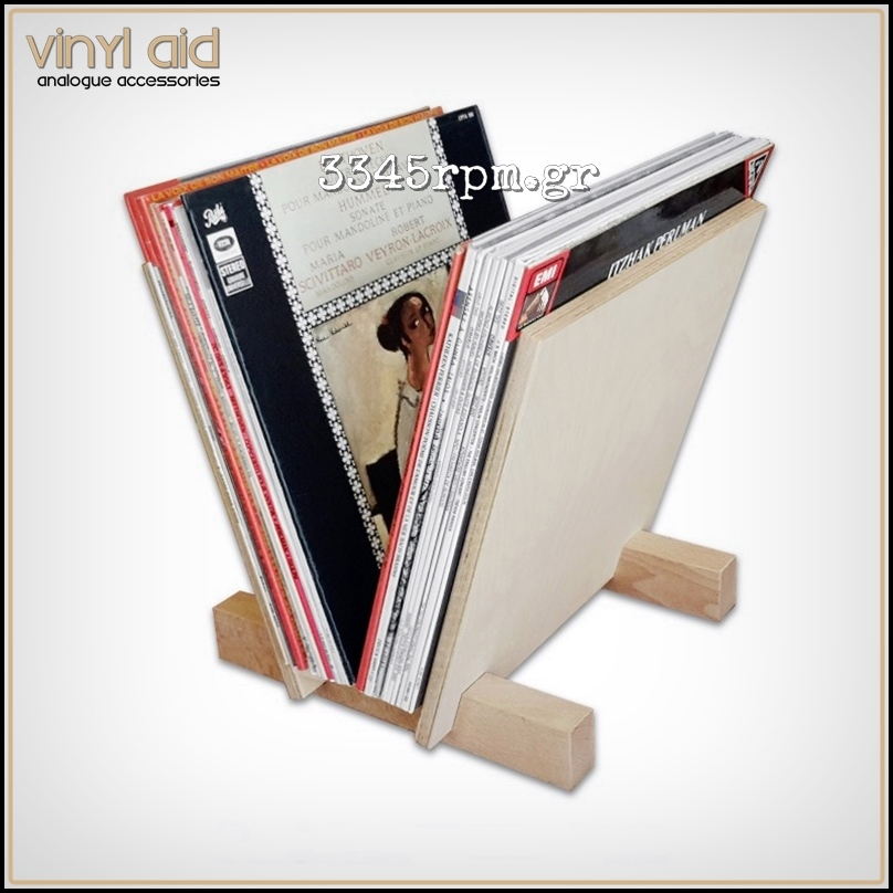 Wooden Storage Stand for 25 Vinyl Records LP